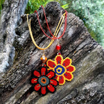 Collier Gerbera rouge