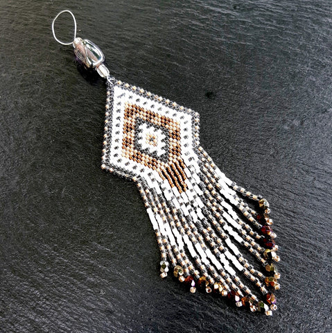 Collier Pendentif franges Uxmal