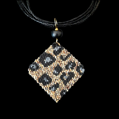 Collier Pendentif DARK BROWN PANTHER