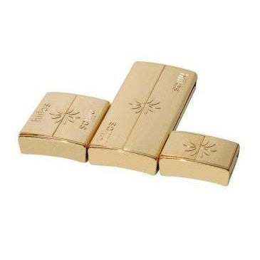 Set of 3 Interchangeable Magnetic Clasps : Ultra Light Gold 24 Karats
