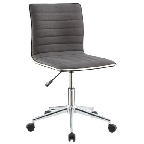 Coaster   Office Chairs Sleek Office Chair with Chrome Base