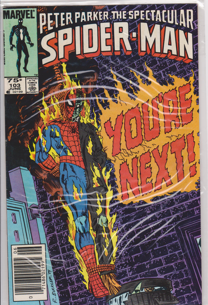 The Spectacular Spiderman #103 NM 9.2 - The Dragon's Tail