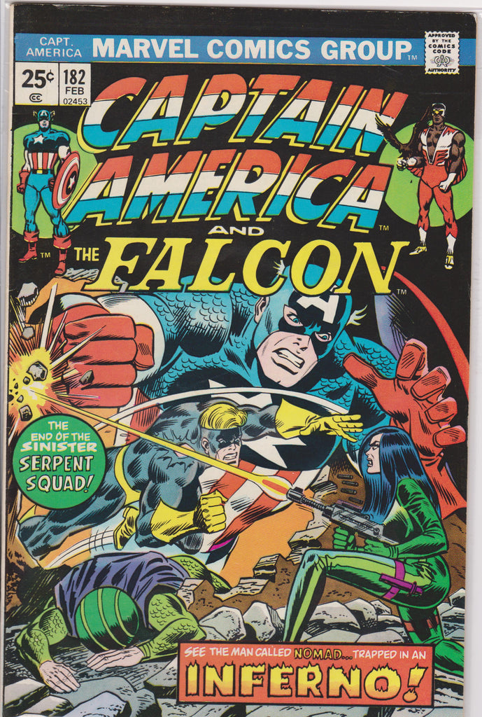 Captain America #182 VF 8.0 - The Dragon's Tail