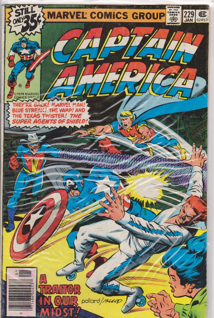 Captain America #229 VF 7.5 - The Dragon's Tail