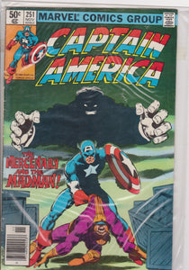 Captain America #251 VF7.0 - The Dragon's Tail