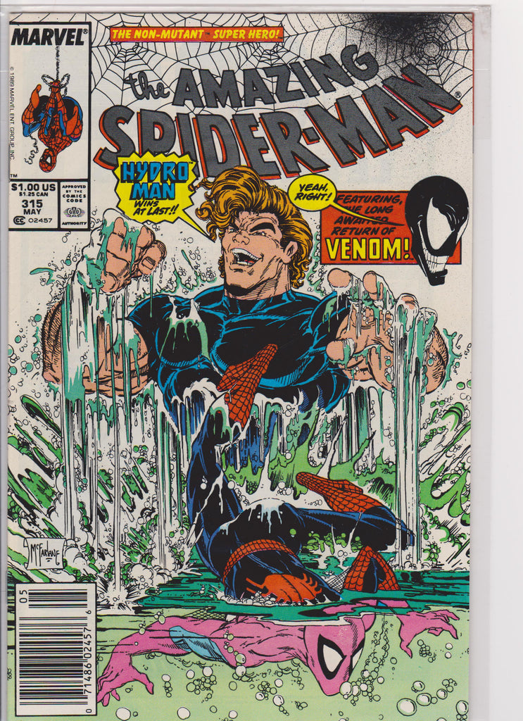The Amazing Spiderman #315 NM 9.6 - The Dragon's Tail