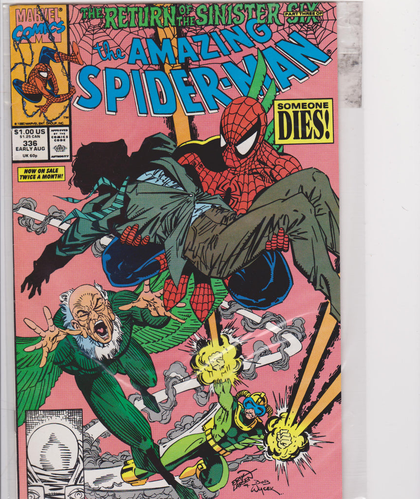 The Amazing Spiderman #336 NM 9.6 - The Dragon's Tail