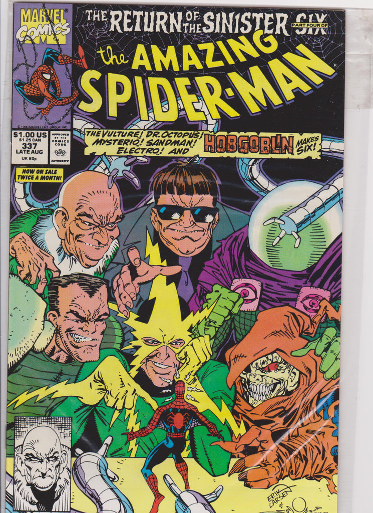 The Amazing Spiderman #337 NM 9.6 - The Dragon's Tail