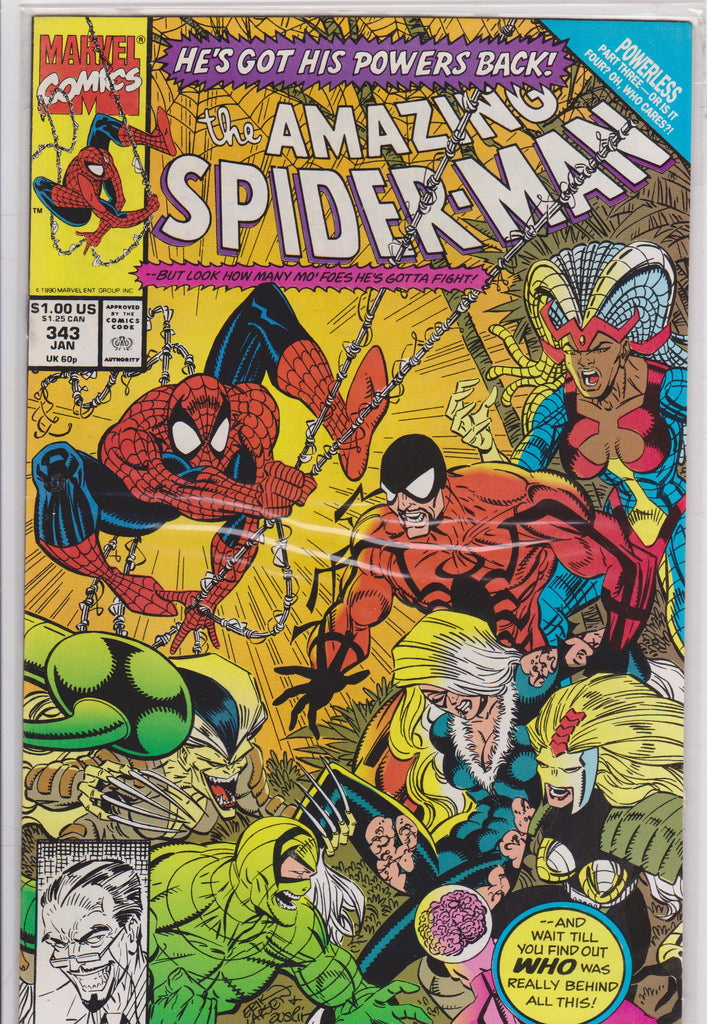 The Amazing Spiderman #343 NM 9.6 - The Dragon's Tail