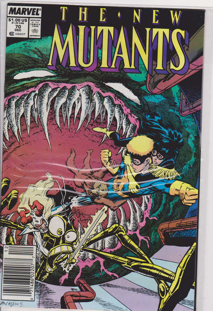 The New Mutants #70 NM 9.4 - The Dragon's Tail