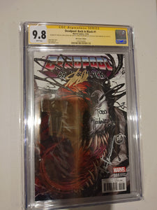 Deadpool Back in Black #1 CGC 9.8 Signed by Todd Macfarlane, Stan Lee, Rob Liefeld and Tyler Kirkham!