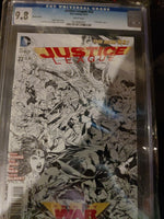 Justice League #22 9.8 CGC !1:100 Sketch Variant