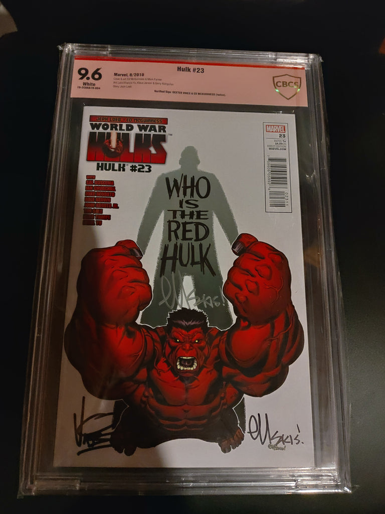 Hulk #23 Double signed! CBCS verified 9.6! Signed by Ed Mcguinness and Dexter Vines!