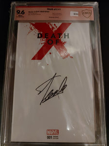 Death of X #1 Signed by Stan Lee! CBCS Verified 9.6!
