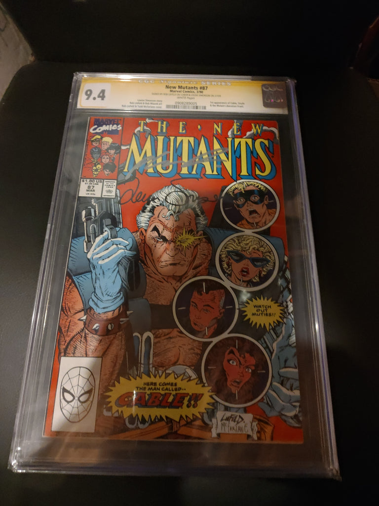 New Mutants #87 9.4 CGC Signed by Rob Liefeld and Louise Simonson!