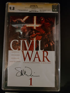 Civil War #1 Signed by Steve Mcniven and CGC Graded 9.8!