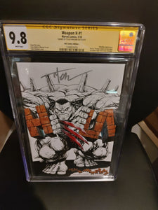 Weapon H #1 CGC graded 9.8 Signed by Tyler Kirkham! KRS comics C cover.