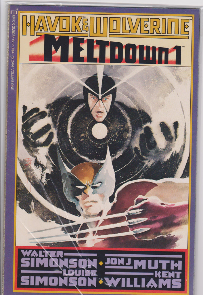 Havok & Wolverine Meltdown #1 NM 9.6 - The Dragon's Tail