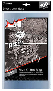 SILVER AGE SIZE COMIC BAGS 100 CT PACK - The Dragon's Tail