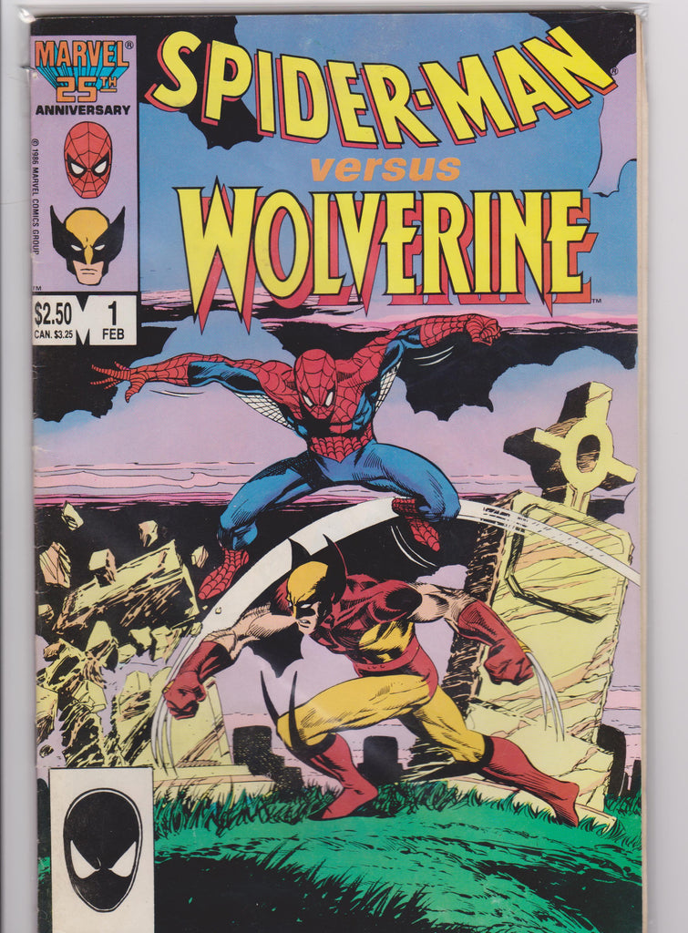 Spiderman Vs Wolverine #1 NM 9.0 - The Dragon's Tail