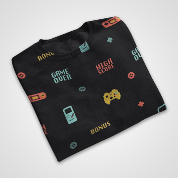 90s Gaming Console Collage - All Over Printed T-Shirts