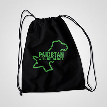Pakistan Will Retaliate - Drawstring Bag