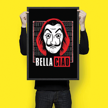 Bella Ciao - Money Heist - Wall Hangings