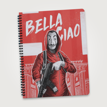Bella Giao - Money Heist  - Notebook
