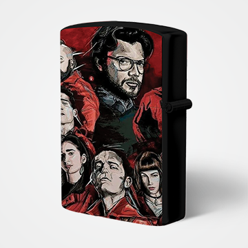 Characters Collage - Money Heist - Lighter