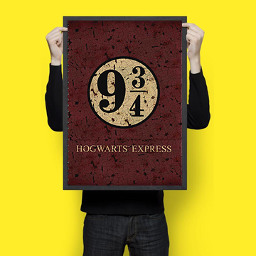 9 3/4 Platform - Harry Potter - Wall Hangings