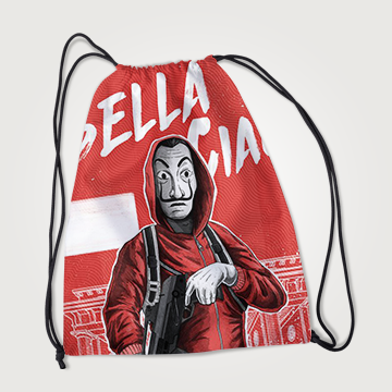 Bella Giao - Money Heist - Drawstring Bag