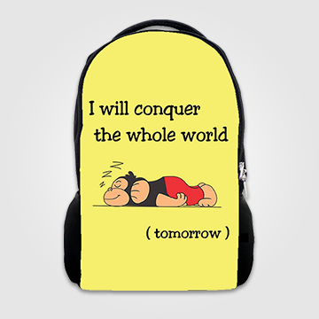 I Will Conquer The Whole World -Tomorrow - Backpack