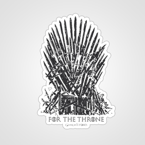 For The Thrones - Game Of Thrones - Cutout Sticker