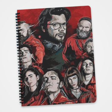 Characters Collage - Money Heist -  Notebook