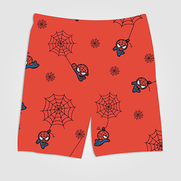 Spiderman Pattern - All Over Printed Shorts
