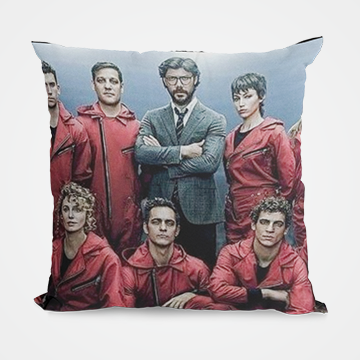 Characters Collage - Money Heist - Cushion