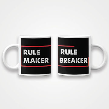 SALE - Rule Maker Rule Breaker - Couple - Mug