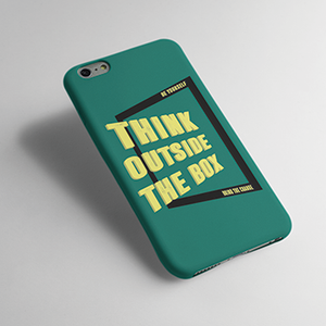 Think Out Side The Box - Mobile cover