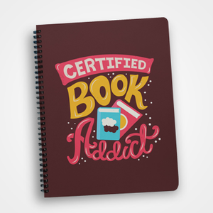 Certified Book Addict - Notebook
