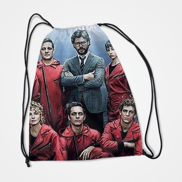 Characters Collage - Money Heist - Drawstring Bag