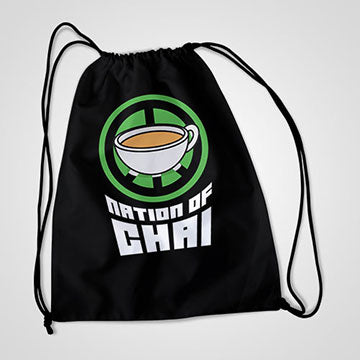Nation Of Chai  - Drawstring Bag