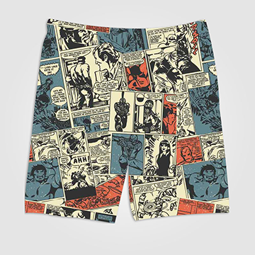 SALE - Marvel Comic - All Over Printed Shorts