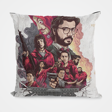 Lacasa De Papel - Money Heist - Cushion