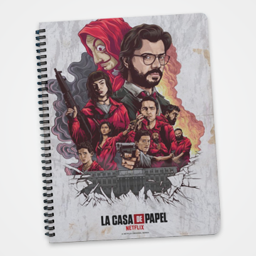 Lacasa De Papel - Money Heist -  Notebook