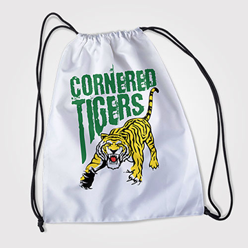 Cornered Tigers - Drawstring Bag