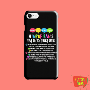 Kpop Fan Printed Cell Cover - Cell Cover
