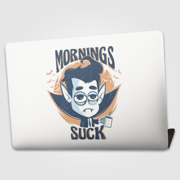Mornings suck - Laptop skin