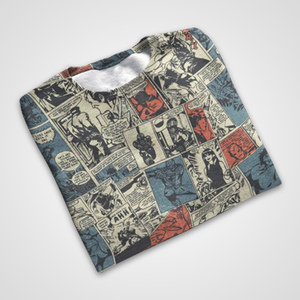 SALE - Marvel Comic Collage  - All Over Printed T-Shirts