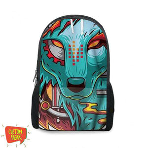Wolf Abstract- Backpack