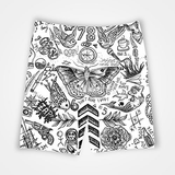 Funky Collage - All Over Printed Shorts